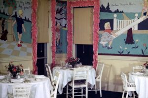 Portions of a mural painted by Jane Krom at the Essex & Sussex Hotel.