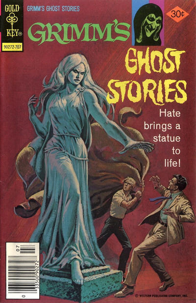 The cover of Grimm's Ghost Stories #38 illustrates a post on comic book sales in 1977.
